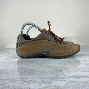 Merrell Brown Leather Lace Up Hiking Shoes